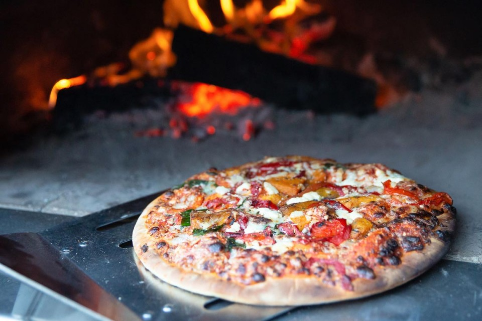 Cook your own wood fired pizza
